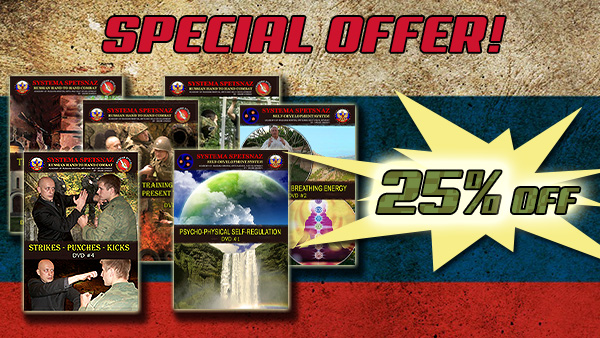 Holiday Sale! 35% OFF - All Russian Martial Art Systema Spetsnaz DVDs!